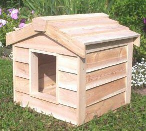 small insulated cedar cat house each undercover pet house is insulated ...