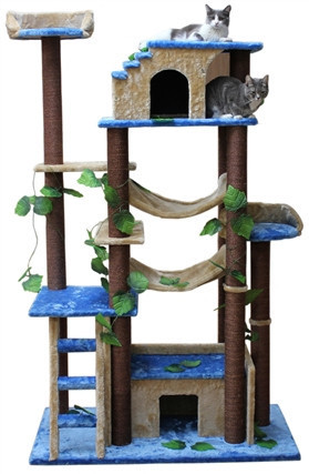 Cat Tree Store Amazon Blue Beige Cat Tree/Cat Tower/Cat Condo